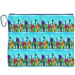 Colourful Street A Completely Seamless Tile Able Design Canvas Cosmetic Bag (XXXL)