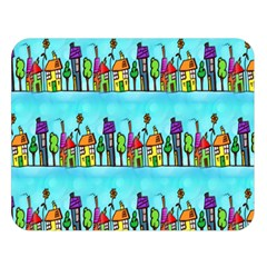 Colourful Street A Completely Seamless Tile Able Design Double Sided Flano Blanket (large)