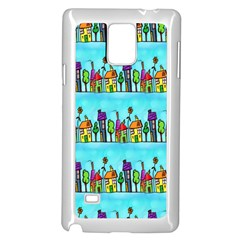 Colourful Street A Completely Seamless Tile Able Design Samsung Galaxy Note 4 Case (white)
