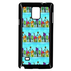 Colourful Street A Completely Seamless Tile Able Design Samsung Galaxy Note 4 Case (Black)