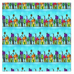 Colourful Street A Completely Seamless Tile Able Design Large Satin Scarf (Square)