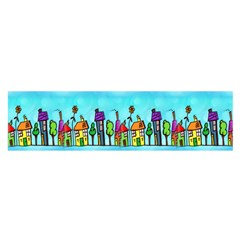Colourful Street A Completely Seamless Tile Able Design Satin Scarf (oblong)