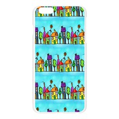 Colourful Street A Completely Seamless Tile Able Design Apple Seamless iPhone 6 Plus/6S Plus Case (Transparent)
