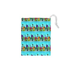 Colourful Street A Completely Seamless Tile Able Design Drawstring Pouches (xs)
