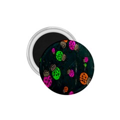Cartoon Grunge Beetle Wallpaper Background 1.75  Magnets