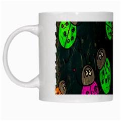 Cartoon Grunge Beetle Wallpaper Background White Mugs
