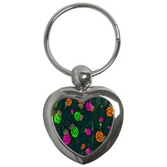 Cartoon Grunge Beetle Wallpaper Background Key Chains (heart)