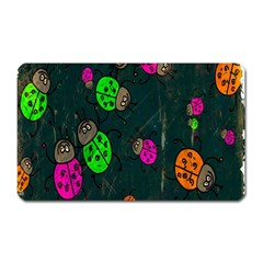 Cartoon Grunge Beetle Wallpaper Background Magnet (Rectangular)