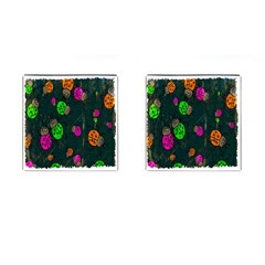 Cartoon Grunge Beetle Wallpaper Background Cufflinks (Square)
