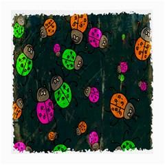 Cartoon Grunge Beetle Wallpaper Background Medium Glasses Cloth (2-Side)