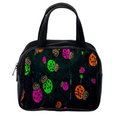 Cartoon Grunge Beetle Wallpaper Background Classic Handbags (one Side)