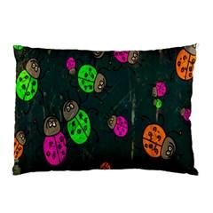 Cartoon Grunge Beetle Wallpaper Background Pillow Case
