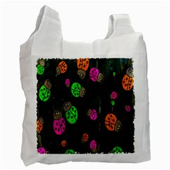 Cartoon Grunge Beetle Wallpaper Background Recycle Bag (Two Side)