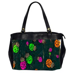 Cartoon Grunge Beetle Wallpaper Background Office Handbags (2 Sides)