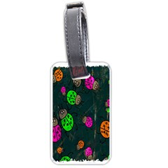 Cartoon Grunge Beetle Wallpaper Background Luggage Tags (two Sides)
