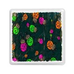 Cartoon Grunge Beetle Wallpaper Background Memory Card Reader (Square)