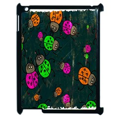Cartoon Grunge Beetle Wallpaper Background Apple Ipad 2 Case (black)