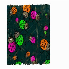 Cartoon Grunge Beetle Wallpaper Background Small Garden Flag (two Sides)