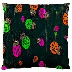 Cartoon Grunge Beetle Wallpaper Background Large Cushion Case (One Side)