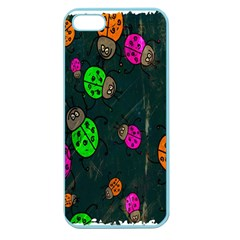 Cartoon Grunge Beetle Wallpaper Background Apple Seamless iPhone 5 Case (Color)