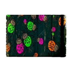 Cartoon Grunge Beetle Wallpaper Background Apple iPad Mini Flip Case
