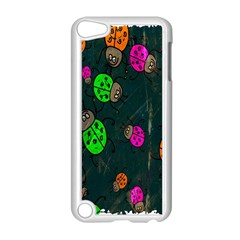 Cartoon Grunge Beetle Wallpaper Background Apple iPod Touch 5 Case (White)