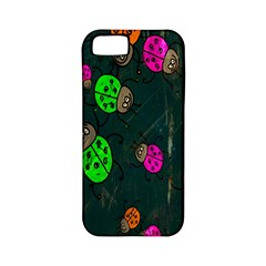 Cartoon Grunge Beetle Wallpaper Background Apple iPhone 5 Classic Hardshell Case (PC+Silicone)