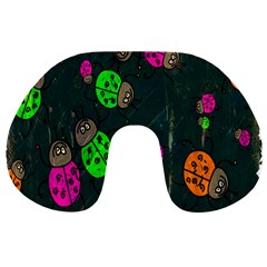Cartoon Grunge Beetle Wallpaper Background Travel Neck Pillows
