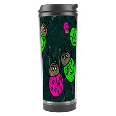 Cartoon Grunge Beetle Wallpaper Background Travel Tumbler