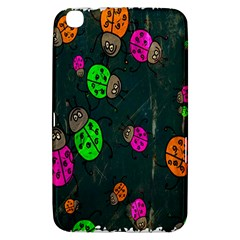 Cartoon Grunge Beetle Wallpaper Background Samsung Galaxy Tab 3 (8 ) T3100 Hardshell Case