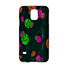 Cartoon Grunge Beetle Wallpaper Background Samsung Galaxy S5 Hardshell Case