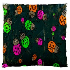 Cartoon Grunge Beetle Wallpaper Background Large Flano Cushion Case (one Side)