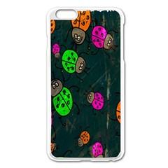 Cartoon Grunge Beetle Wallpaper Background Apple iPhone 6 Plus/6S Plus Enamel White Case