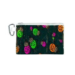 Cartoon Grunge Beetle Wallpaper Background Canvas Cosmetic Bag (s)
