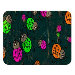 Cartoon Grunge Beetle Wallpaper Background Double Sided Flano Blanket (Large)