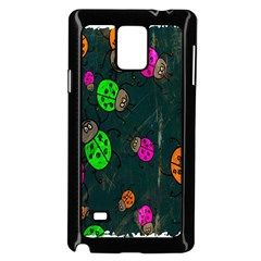 Cartoon Grunge Beetle Wallpaper Background Samsung Galaxy Note 4 Case (Black)