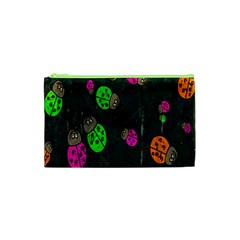 Cartoon Grunge Beetle Wallpaper Background Cosmetic Bag (XS)