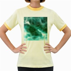 Light Web Colorful Web Of Crazy Lightening Women s Fitted Ringer T-Shirts