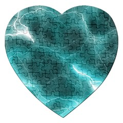 Light Web Colorful Web Of Crazy Lightening Jigsaw Puzzle (Heart)