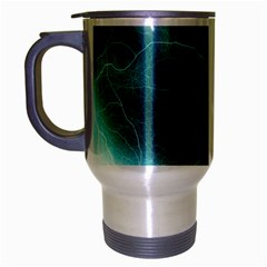 Light Web Colorful Web Of Crazy Lightening Travel Mug (Silver Gray)