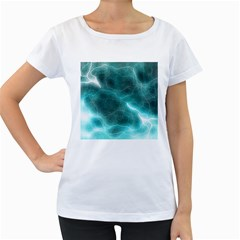 Light Web Colorful Web Of Crazy Lightening Women s Loose-Fit T-Shirt (White)