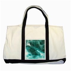 Light Web Colorful Web Of Crazy Lightening Two Tone Tote Bag