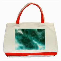 Light Web Colorful Web Of Crazy Lightening Classic Tote Bag (red)