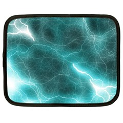 Light Web Colorful Web Of Crazy Lightening Netbook Case (Large)