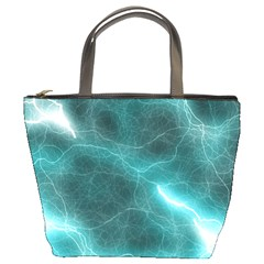 Light Web Colorful Web Of Crazy Lightening Bucket Bags