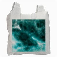 Light Web Colorful Web Of Crazy Lightening Recycle Bag (two Side)