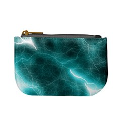 Light Web Colorful Web Of Crazy Lightening Mini Coin Purses