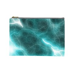 Light Web Colorful Web Of Crazy Lightening Cosmetic Bag (Large)
