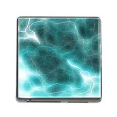 Light Web Colorful Web Of Crazy Lightening Memory Card Reader (square)
