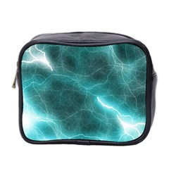 Light Web Colorful Web Of Crazy Lightening Mini Toiletries Bag 2-Side